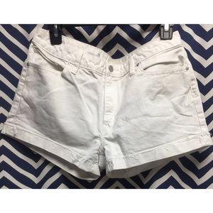 Gap slim cut-off denim shorts.